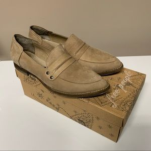 NEW Free People Taupe Leather Bexley Loafers